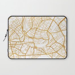 BERN SWITZERLAND CITY STREET MAP ART Laptop Sleeve