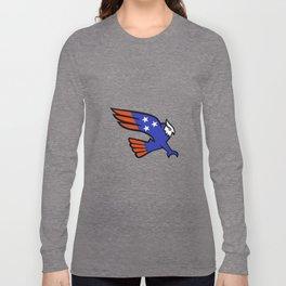 American Owl Swooping Mascot Long Sleeve T-shirt