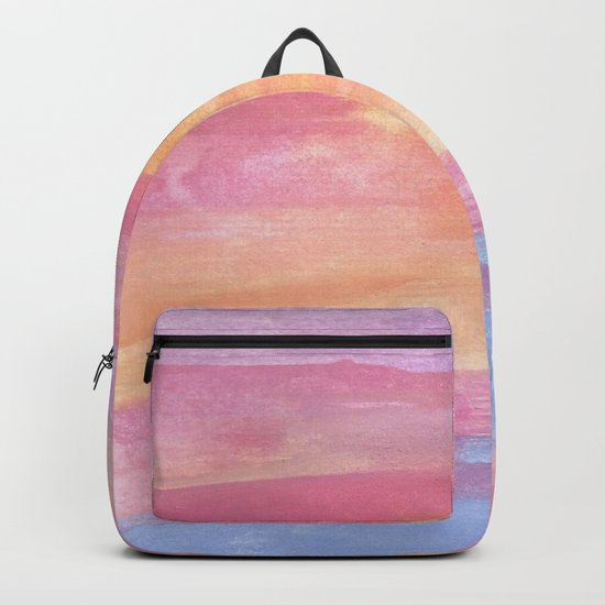 Sunset at the Ocean Backpack