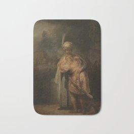 Rembrandt - David and Jonathan (1642) Bath Mat