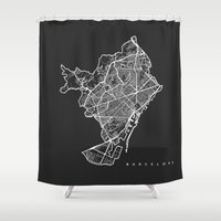 barcelona Shower Curtains featuring BARCELONA by Nicksman