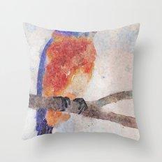 Little Bluebird Throw Pillow