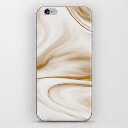 Gold Milky Swirl Marble iPhone Skin