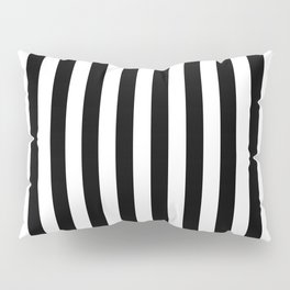 Large Black and White Cabana Stripe Pillow Sham