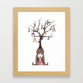The Knitting Tree Framed Art Print
