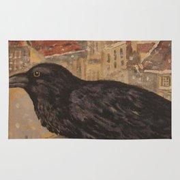 Crow and Snow Rug