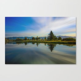 Peacock Bay Canvas Print