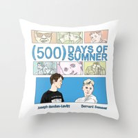 500 days of summer Throw Pillows featuring 500 Days of Sumner by StellaDays