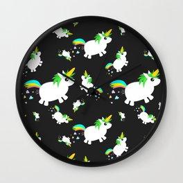 uniCORN PoPCorn POOPcorn pattern Wall Clock