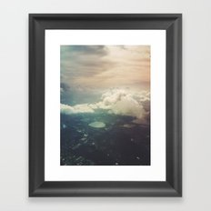 The sky Framed Art Print