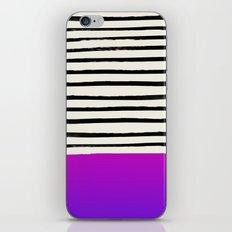 Galaxy x Stripes iPhone Skin