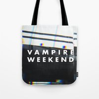vampire weekend Tote Bags featuring Vampire Weekend 3 by alboradas