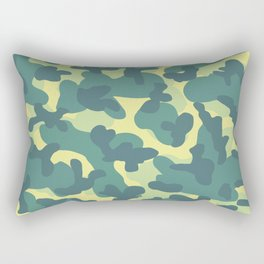 Old Skull Light Military (Militar Claro) Rectangular Pillow