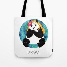 Panda Zodiac Virgo Tote Bag