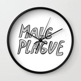 Male Plague Wall Clock