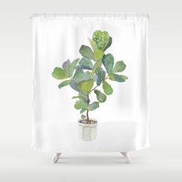 Fiddle Leaf Fig Tree Shower Curtain