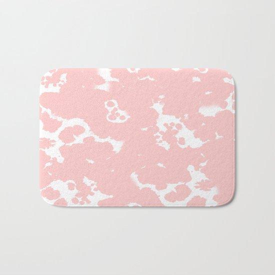 Rosequartz -marble pantone color art print decor minimal pastel pink girly hipster marbled   Bath Mat