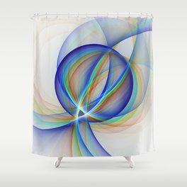 Colorful Design, Modern Fractal Art Shower Curtain