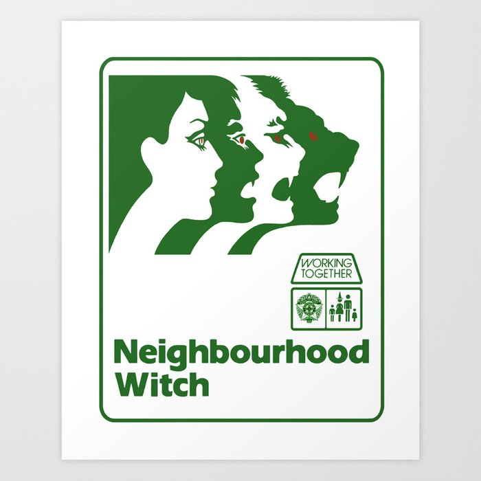 Neighbourhood Witch Art Print