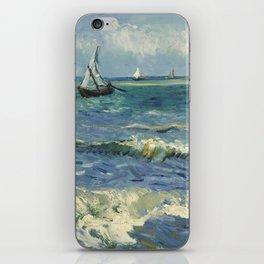 Seascape near Les Saintes-Maries-de-la-Mer by Vincent van Gogh iPhone Skin