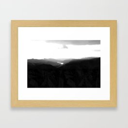 LANDSCAPE ABSTRACTION Framed Art Print