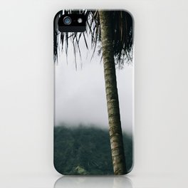 Misty Mountain Palm Trees - Hawaii iPhone Case