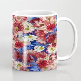 Red White Blue Flora Coffee Mug