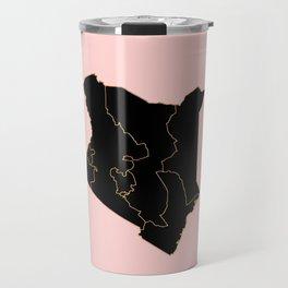 Kenya map Travel Mug