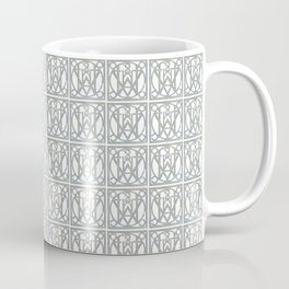 Art Deco Blue Lattice Coffee Mug