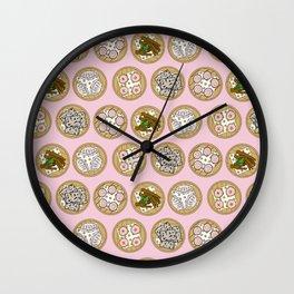 Dim Sum Pink Wall Clock