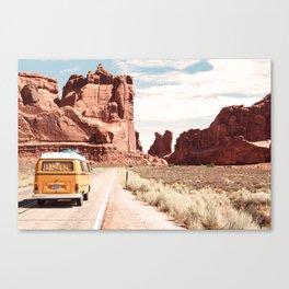 Desert Road Trip Canvas Print