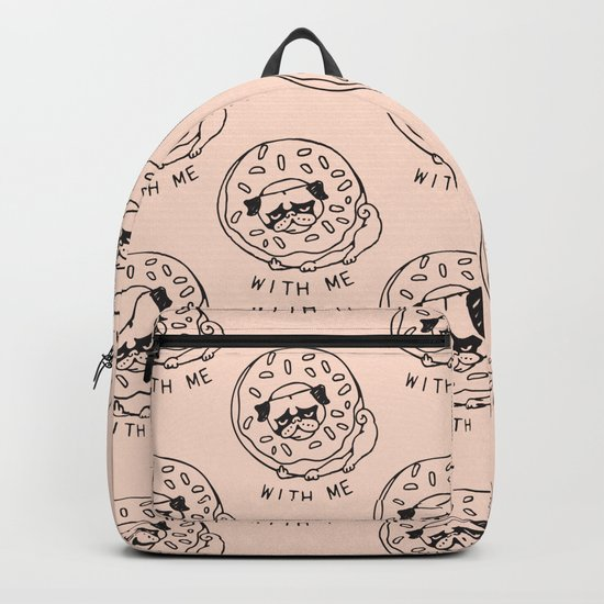 Donut Pug with Me Backpack
