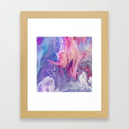 ultra violet marble fun Framed Art Print