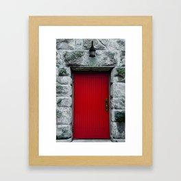 Red Lanters Black Doors Framed Art Print