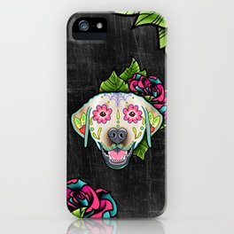 Labrador Retriever - Yellow Lab - Day of the Dead Sugar Skull Dog iPhone Case