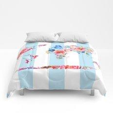 Floral World Stripe Comforters
