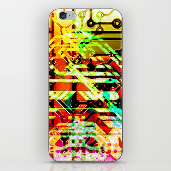 Color circuit iPhone & iPod Skin