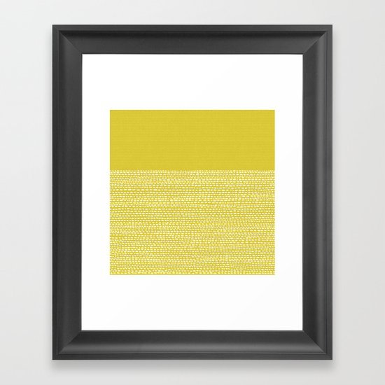 Riverside(Yellow) Framed Art Print