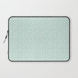 Mint Passion Thalertupfen White Pōlka Round Dots Pattern Pastels Laptop Sleeve