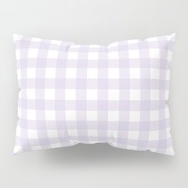 Lilac gingham pattern Pillow Sham