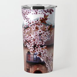 Cherry Blossoms and Chapels Travel Mug
