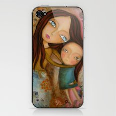 Embrace of a Mother iPhone & iPod Skin