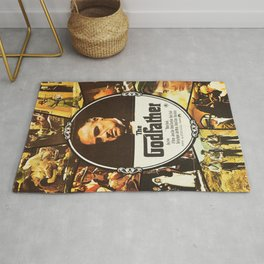 The Godfather, vintage movie poster Rug