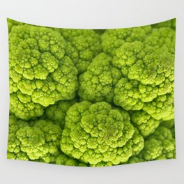 Green Cauliflower Macro Wall Tapestry