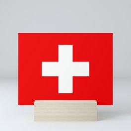 Flag of Switzerland - Swiss Flag Mini Art Print