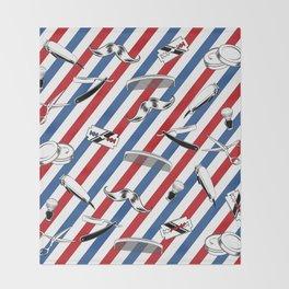 Barber Shop Pattern Throw Blanket