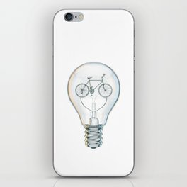 Light Bicycle Bulb iPhone Skin