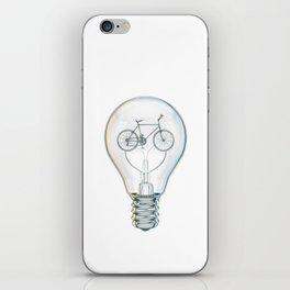 Light Bicycle Bulb iPhone Skin
