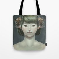 sheep Tote Bags featuring Sheep by Lek Chan