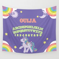 my little pony Wall Tapestries featuring My Little Pony Ouija Board by Guts and Glitter